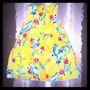 Baby Boden Toddler Yellow Floral Dress